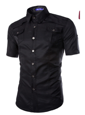 Handsome Stand Collar Male in Black M,L,XL,XXL,MH10003