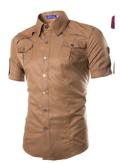 Handsome Stand Collar Male in Khaki M,L,XL,XXL MH10004