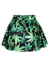 Green Maple Short Skirt S,M,L,XL MH8002