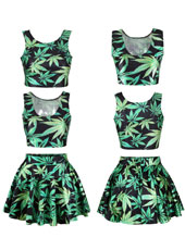 Green Maple Two pcs Set S,M,L,XL MH8003