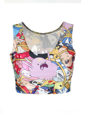 Adventure Time Sleeveless Crop Top S,M,L,XL MH8004
