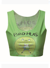 Bro Hug Printed Crop Top MH8021