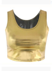Bro Hug Gold Color Crop Top MH8022