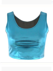 Bro Hug Light Blue Color Crop Top MH8024