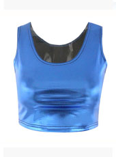 Bro Hug Dark Blue Sleeveless Crop Top MH8025