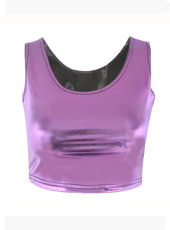 Bro Hug Dark Purple Sleeveless Crop Top MH8026
