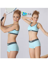 Blue top and panty sports sets S,M,L MH4097