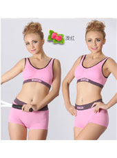 Pink top and panty sport set S,M,L MH4098
