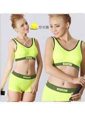 Yellow top and panty sport set S,M,L MH4099