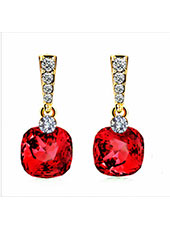 Red Fashion Crystal Earings MH9003