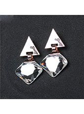 Triangle Style With White Crystal Earings MH9006
