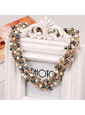 Black And White Pearl Necklace MH9016