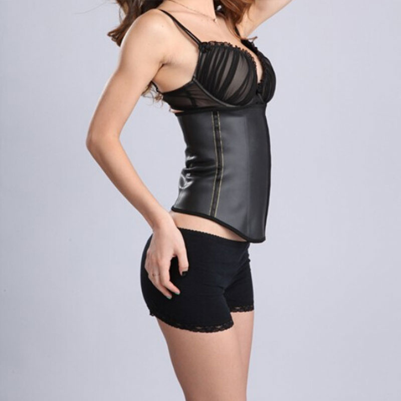 Black natural 5A CortiSlim latex corset S-3XL MH1053