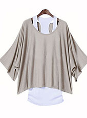 Loose Top Batwing T-Shirt Plus Summer Vest S-XXL MH0001