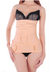 3 Pieces Pink Corset Body Shaper Waist Slimmer Gastric Belt Pelvis Band  MH1080