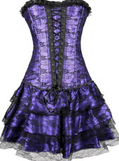 Three pcs purple corset dress S-XXL MH1116