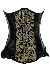Black flower hooks corset S-3XL MH1186