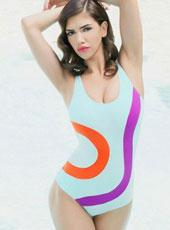 Blue Red and Purple One pc Swimsuit S-L  MH2491