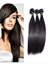 Malaysia Natural Black Color Straight Hair MH15012