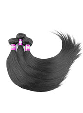 5A Beautiful Attractive Virgin Hair Straight 100% Real Hair Extensions In Black S-9XL  MH15023