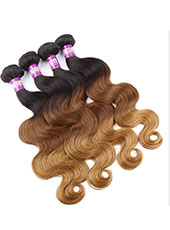 Brazilian Body Wave Ombre 3T Human Hair Extension S-9XL MH15026