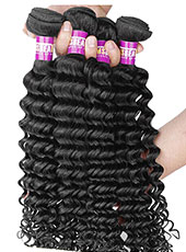 Curly Weft Hair Extension 100% Real Human Hair Soft With Elastic 6A S-9XL MH15028
