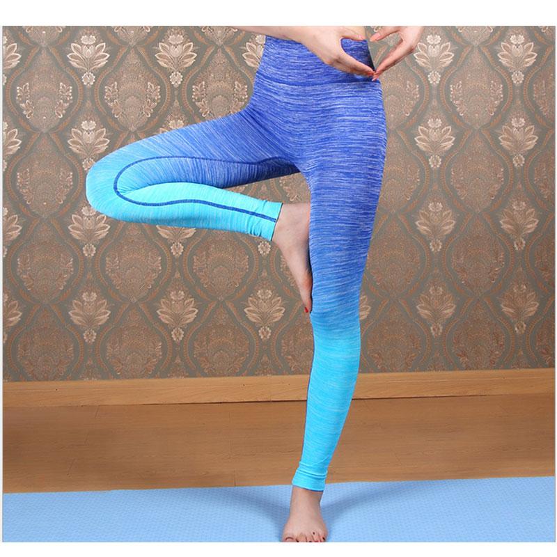 Blue Ombre Sport Yoga Pants S-XL MH13046-Beuty Girl