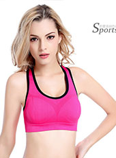 Simple Padded Pink Yoga Sport Bra M-XL MH4203