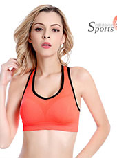 Simple Padded Orange Yoga Sport Bra M-XL MH4204