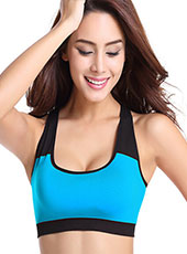 Breathable Light Blue Padded Yoga Sport Bra S-XL MH4209