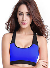 Breathable Deep Blue Padded Yoga Sport Bra S-XL MH4210
