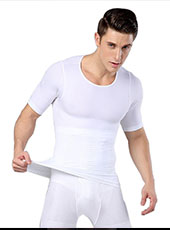 White Seamless Breathable Men-Corsets M, L MH1323