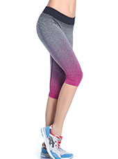 Pink And Grey Sport Cropped Trousers M, L MH13115