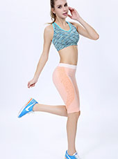 Orange Fitness Half-Length Sport Pants One size MH13121