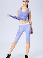 Purple Fitness Half-Length Sport Pants One size MH13122