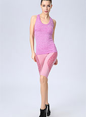 Pink Fitness Half-Length Sport Pants One size  MH13123