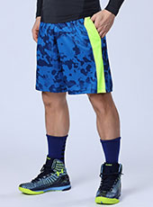 Blue Camouflage Loose Men Sport Shorts M-XL MH13132