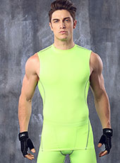 Green Fitness Breathable Gym Vest M-XL MH4288