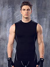 Black Fitness Breathable Gym Vest M-XL MH4290