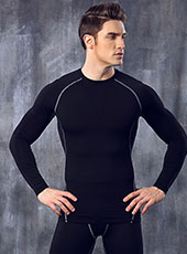 Long Sleeve Black Seamless Sport Tops M-XL MH4291