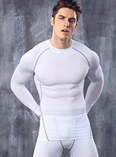 Long Sleeve White Seamless Sport Tops M-XL MH4293