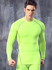Long Sleeve Green Seamless Sport Tops M-XL MH4294