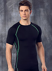 Green Edge Seamless Fitness Sport T-shirts M-XL MH4298