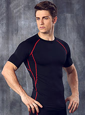 Men Red Fitness Breathable Sport Tops M-XL MH4299