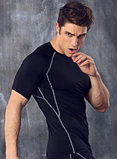 Grey Edge Seamless Tight Sport T-shirts M-XL MH4300