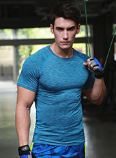 Blue Tight Seamless Sport Sport T-shirts M-XL MH4303