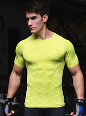 Yellow Tight Seamless Sport Sport T-shirts M-XL MH4304