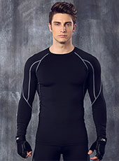 Long Sleeve Grey Edge Tight Sport Tops M-XL MH4305
