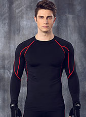 Long Sleeve Red Edge Tight Sport Tops M-XL MH4307