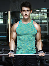 Green Seamless Fitness Sport Tank Top M-XL MH4308